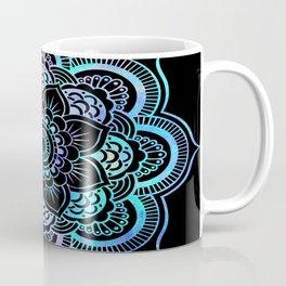 Galaxy Space Mandala Black Pink Lavender Aqua Coffee Mug