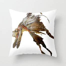 Chief Howling Jowls Throw Pillow