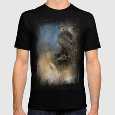 Red Tail In Winter Black Mens Fitted Tee MEDIUM