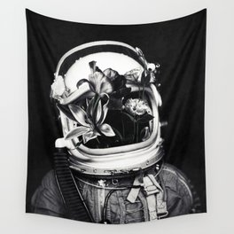 Astronauts and flowers Wall Tapestry
