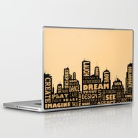 motivational Laptop & iPad Skins featuring Motivational by Andreea Red
