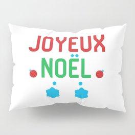 Merry Christmas French Joyeux Noel Pillow Sham
