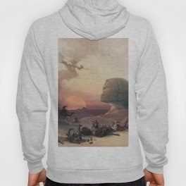 Approach of the simoom Desert of Gizeh  by David Roberts (1796-1864) Hoody