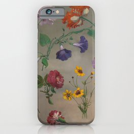 Studies of Flowers by Jacques-Laurent Agasse, 1848 iPhone Case