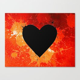 Red Hot Heart Canvas Print
