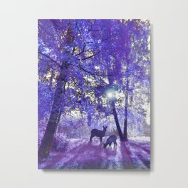 Deer In Another Light Metal Print