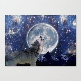 One Wolf Moon - Wildlife Art Canvas Print