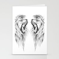 lions Stationery Cards featuring Lions by Libby Watkins Illustration