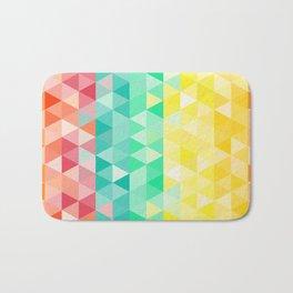 Rainbow triangles Bath Mat