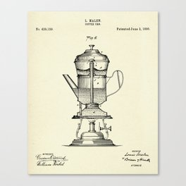 Coffee Urn-1890 Canvas Print