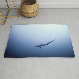 Thresher shark in the blue Rug