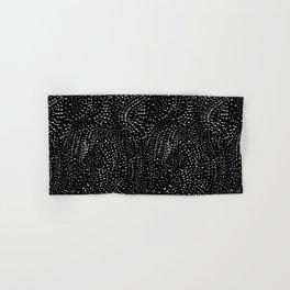 white on black dots Hand & Bath Towel