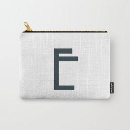 Art Deco Letters -  E Carry-All Pouch
