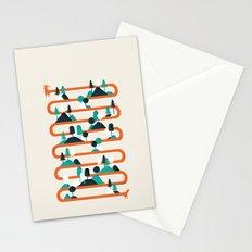 Foxy stripes Stationery Cards