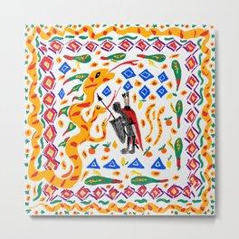 traditional Sicilian design folklore Metal Print