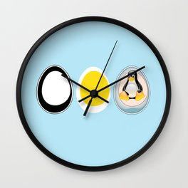 LINUX TUX PENGUIN EGGS Wall Clock