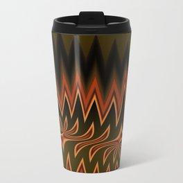 Fractal Tribal Art in Autumn Travel Mug