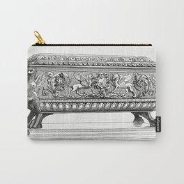 Carved Wooden Box (1862) from Gazette Des Beaux-Arts a French art review Carry-All Pouch