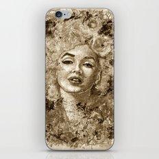 blonde bombshell - sepia version iPhone & iPod Skin