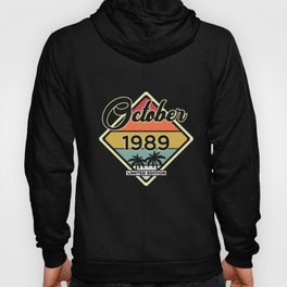 Vintage October 30 Year 1989 30th Birthday Gift Hoody