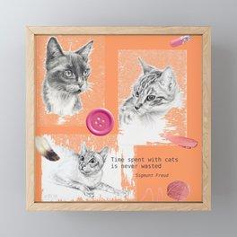 Cats and psychoanalysis Framed Mini Art Print