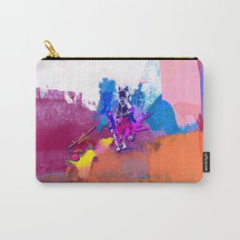polo abstract red blue Carry-All Pouch
