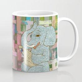 Elephant Reading Coffee Mug