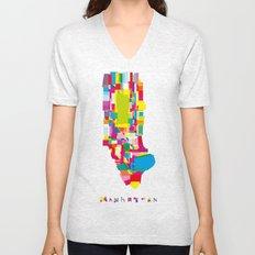 Manhattan Fragments Unisex V-Neck