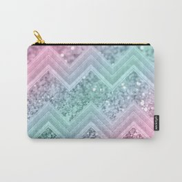 Mermaid Glitter Chevron #2 #shiny #pastel #decor #art #society6 Carry-All Pouch