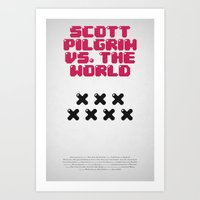 scott pilgrim Art Prints featuring Scott Pilgrim vs. The World by Martin Lucas