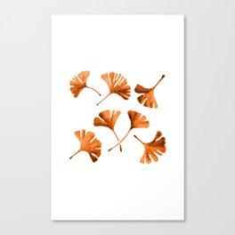 Orange Ginkgo Canvas Print