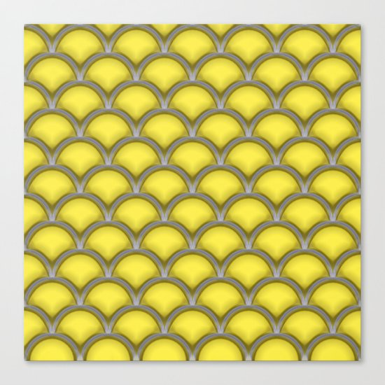 Large scallops in buttercup yellow Canvas Print
