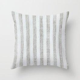 Vintage French Farmhouse Stripy  Linen Throw Pillow