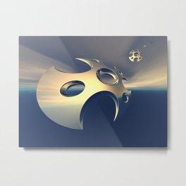 Metallic Space Pods Metal Print