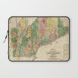 Map of Maine, New Hampshire and Vermont (1826) Laptop Sleeve