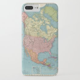 Vintage Map of North America (1903) iPhone Case
