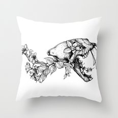 Prehistoric Bloom - The Cat Throw Pillow