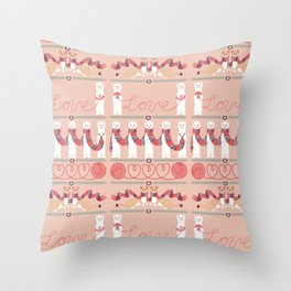 Love from Ermines Throw Pillow