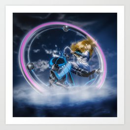 Wind Surfers II (3) Art Print