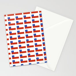 Flag of Chile 3-Spanish,Chile,chilean,chileno,chilena,Santiago,Valparaiso,Andes,Neruda. Stationery Cards