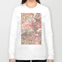 mexico Long Sleeve T-shirts featuring Mexico by MapMapMaps.Watercolors