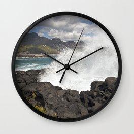 WAVES BEACH - SICILY Wall Clock