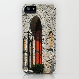 Lourdes University-  Portiuncula  Chapel Doors II iPhone Case