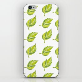 Green Leaf Water Color iPhone Skin