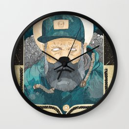 Modern day Pirate. Wall Clock
