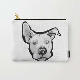 RESCUE ME Pit Bull Pitbull Dog Pop Art black and White Painting by LEA Carry-All Pouch