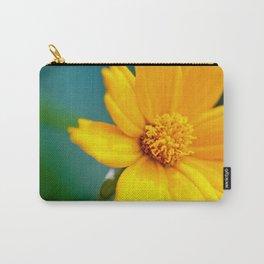 Pretty Golden Flower Carry-All Pouch