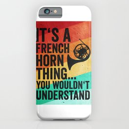 French Horn Player Vintage Retro iPhone Case