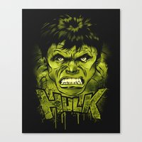 hulk Canvas Prints featuring HULK by dan elijah g. fajardo