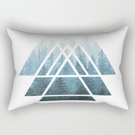 Sacred Geometry Triangles - Misty Forest Rectangular Pillow